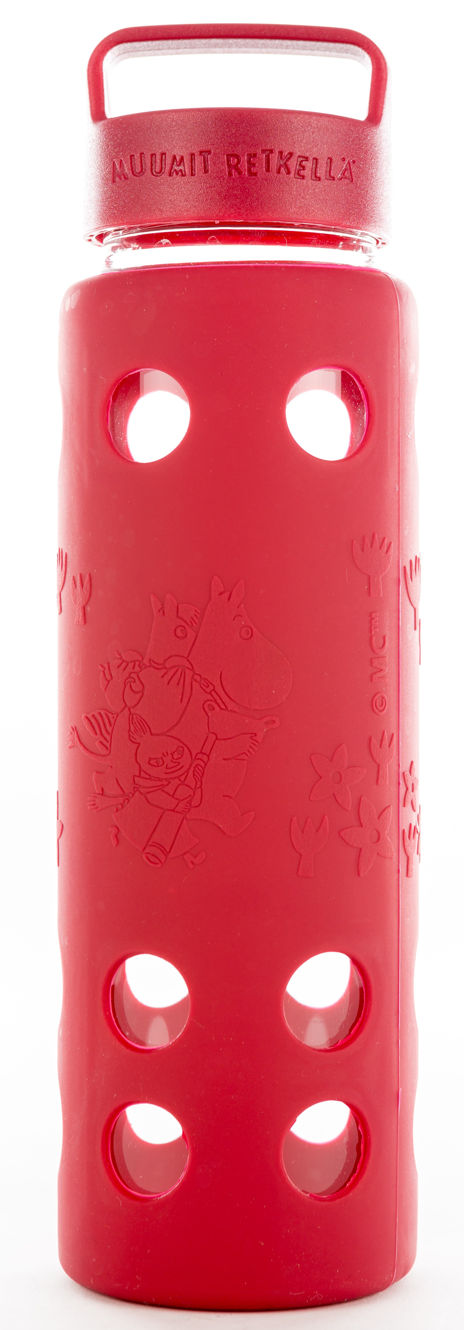 Moomin Adventure glass bottle 680 ml, red