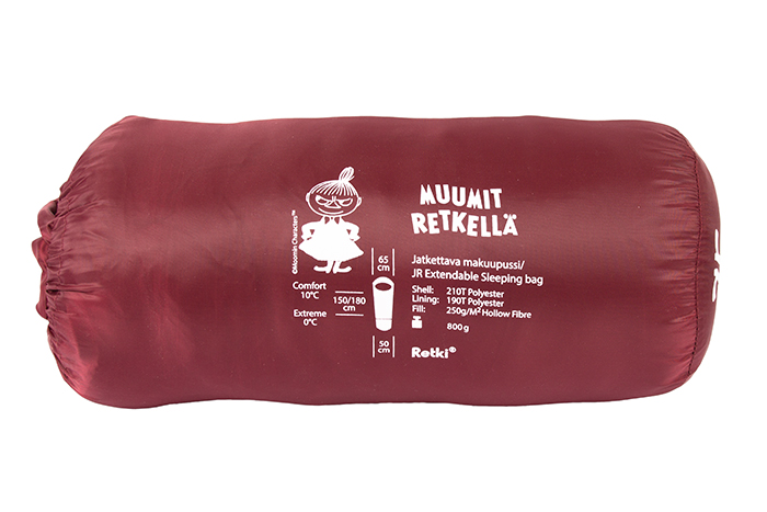 Moomin Adventure JR sleeping bag, red